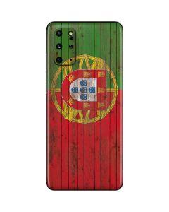 Portuguese Flag Dark Wood Galaxy S20 Plus Skin