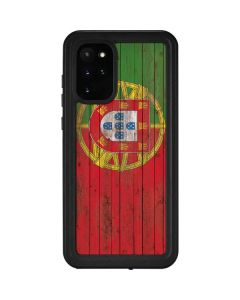 Portuguese Flag Dark Wood Galaxy S20 Plus Waterproof Case