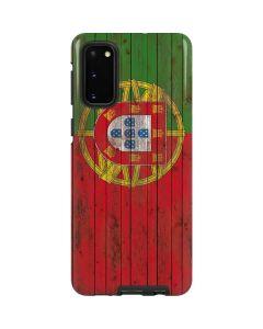 Portuguese Flag Dark Wood Galaxy S20 Pro Case