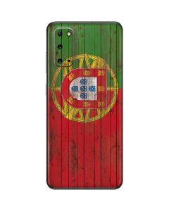 Portuguese Flag Dark Wood Galaxy S20 Skin