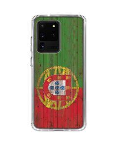 Portuguese Flag Dark Wood Galaxy S20 Ultra 5G Clear Case