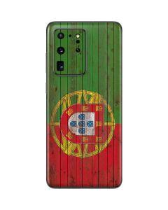 Portuguese Flag Dark Wood Galaxy S20 Ultra 5G Skin