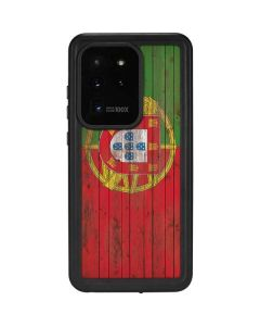 Portuguese Flag Dark Wood Galaxy S20 Ultra 5G Waterproof Case