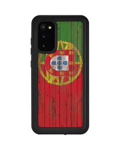 Portuguese Flag Dark Wood Galaxy S20 Waterproof Case