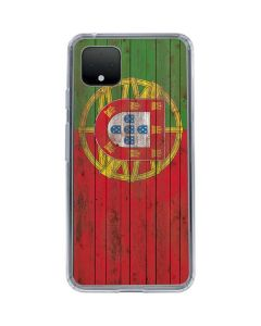 Portuguese Flag Dark Wood Google Pixel 4 XL Clear Case