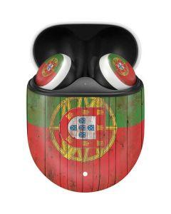 Portuguese Flag Dark Wood Google Pixel Buds Skin