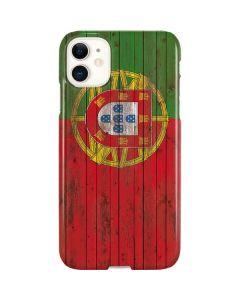Portuguese Flag Dark Wood iPhone 11 Lite Case