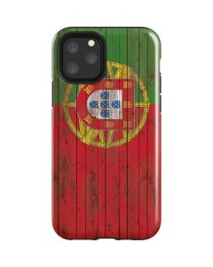 Portuguese Flag Dark Wood iPhone 11 Pro Impact Case