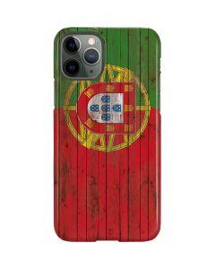 Portuguese Flag Dark Wood iPhone 11 Pro Lite Case