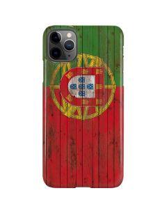 Portuguese Flag Dark Wood iPhone 11 Pro Max Lite Case