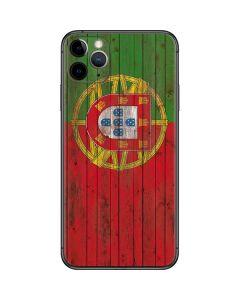 Portuguese Flag Dark Wood iPhone 11 Pro Max Skin