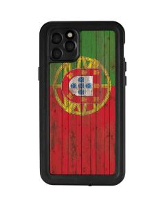 Portuguese Flag Dark Wood iPhone 11 Pro Max Waterproof Case