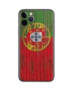 Portuguese Flag Dark Wood iPhone 11 Pro Skin
