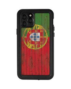 Portuguese Flag Dark Wood iPhone 11 Pro Waterproof Case