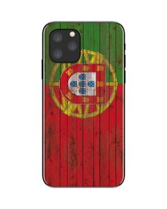 Portuguese Flag Dark Wood iPhone 11 Pro Skin