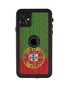 Portuguese Flag Dark Wood iPhone 11 Waterproof Case