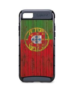 Portuguese Flag Dark Wood iPhone 8 Cargo Case