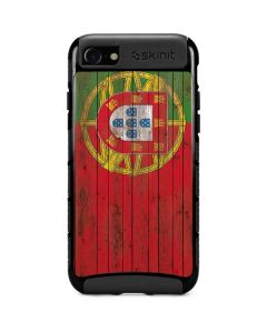 Portuguese Flag Dark Wood iPhone SE Cargo Case