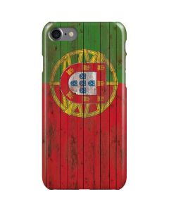 Portuguese Flag Dark Wood iPhone SE Lite Case
