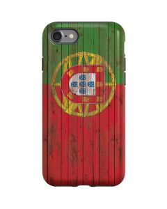 Portuguese Flag Dark Wood iPhone SE Pro Case
