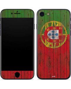 Portuguese Flag Dark Wood iPhone SE Skin
