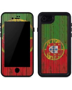 Portuguese Flag Dark Wood iPhone SE Waterproof Case