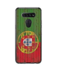 Portuguese Flag Dark Wood LG K51/Q51 Clear Case