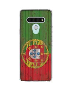 Portuguese Flag Dark Wood LG Stylo 6 Clear Case