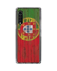 Portuguese Flag Dark Wood LG Velvet Clear Case