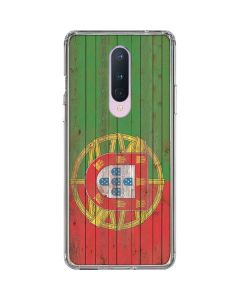 Portuguese Flag Dark Wood OnePlus 8 Clear Case