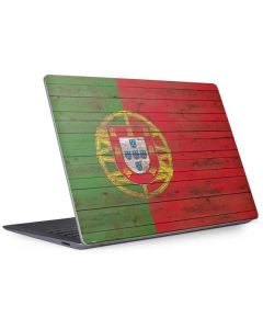 Portuguese Flag Dark Wood Surface Laptop 3 13.5in Skin