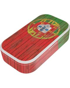Portuguese Flag Dark Wood UV Phone Sanitizer and Wireless Charger Skin