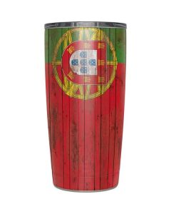 Portuguese Flag Dark Wood Yeti 20oz Tumbler Skin