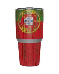 Portuguese Flag Dark Wood Yeti 30oz Rambler Tumbler Skin