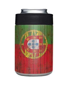 Portuguese Flag Dark Wood Yeti Colster Can Insulator Skin