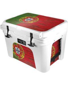 Portuguese Flag Dark Wood YETI Tundra 35 Hard Cooler Skin