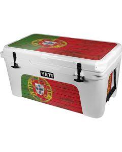 Portuguese Flag Dark Wood YETI Tundra 65 Hard Cooler Skin