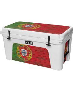 Portuguese Flag Dark Wood YETI Tundra 75 Hard Cooler Skin