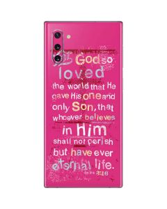 John 3:16 in Pink Galaxy Note 10 Skin