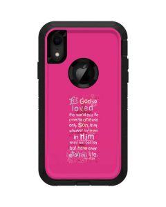 John 3:16 in Pink Otterbox Defender iPhone Skin