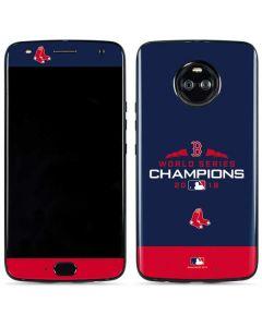 Boston Red Sox World Series Champions 2018 Moto X4 Skin