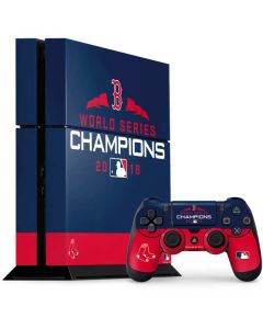 Boston Red Sox World Series Champions 2018 PS4 Console and Controller Bundle Skin