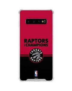 2019 Champions Toronto Raptors Galaxy S10 Clear Case