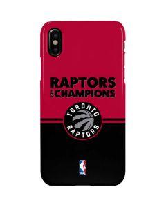 2019 Champions Toronto Raptors iPhone X Lite Case