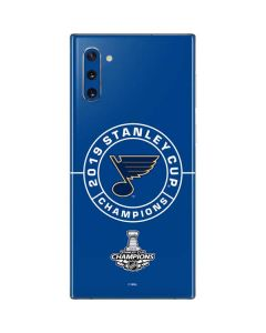 2019 Stanley Cup Champions Blues Galaxy Note 10 Skin