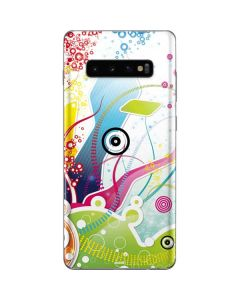 Abstraction White Galaxy S10 Plus Skin