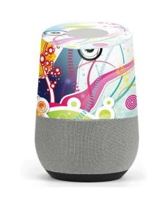 Abstraction White Google Home Skin