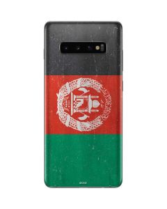 Afghanistan Flag Distressed Galaxy S10 Plus Skin