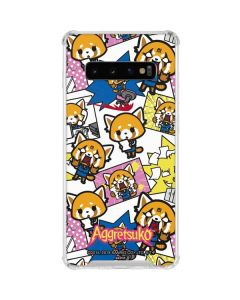 Aggretsuko Blast Galaxy S10 Clear Case