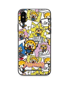 Aggretsuko Blast iPhone XS Skin